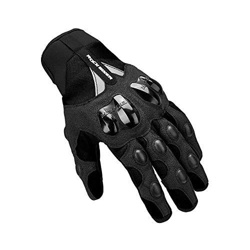 Warme Motorradhandschuhe Winter Radfahren Mountainbike Guantes Motocross Luvas Touchscreen Moto Handschuhe Herren Wasserdicht-Summer Gloves Black-1-M
