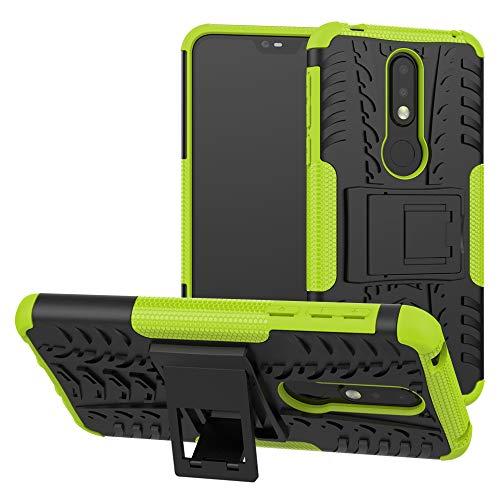 Labanema Nokia 7.1 2018 Hülle, Abdeckung Cover schutzhülle Tough Strong Rugged Shock Proof Heavy Duty Hülle Für Nokia 7.1 2018 - Grün