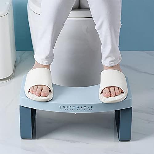 Toilet Stool,Poop Stool Lightweight,Toilet Step Stool, Bathroom Poop Stool, Detachable Poop Stool, 7'' Height Toilet Stool,for Kids Adults,Blue