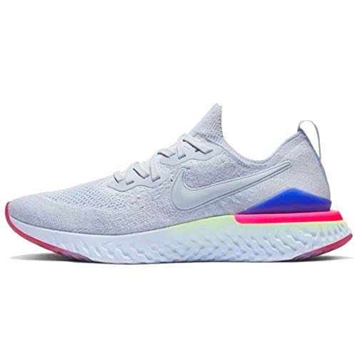 Nike Zapatillas para correr Epic React Flyknit Metallic Prem para mujer, azul (Hydrogen Blue/Hydrogen Blue-Zafiro), 35.5 EU