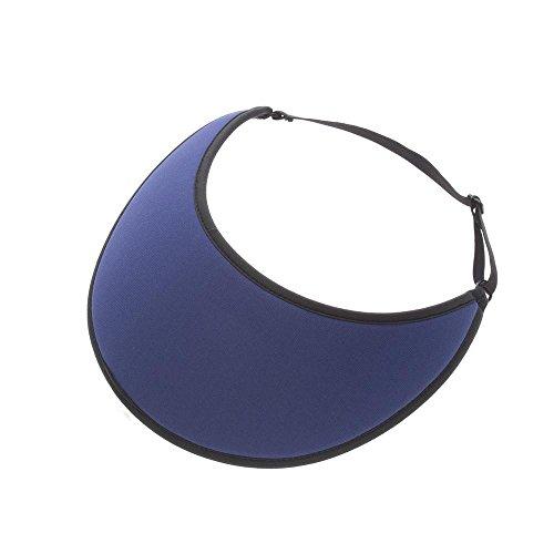 No Headache Lites Adjustable Solid Color Sport Sun Visor (Navy)