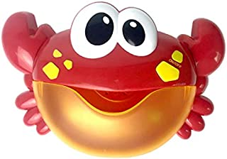 Monland Plastic Cartoon Crab Bubble Machine Children Baby Bath Bubble Machine Baby Bath Bath Toys Bathroom Bath Bubble Machine