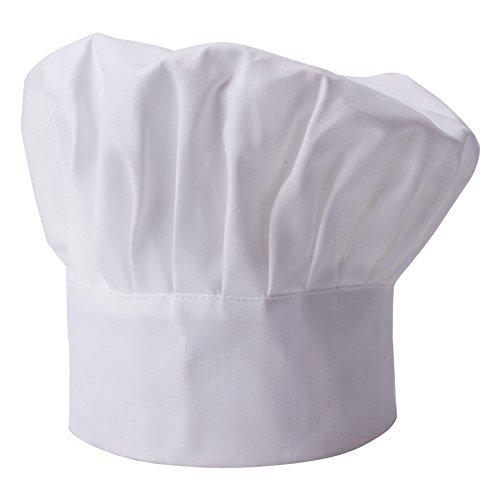 maboobie Kochmuetze Kuechenmuetze Gastromuetzen Kochhaube Klettverschluss Kueche Restaurant Cook Cap Muetze Fuer Restaurant Kochen BBQ - Pilz-Stil Fleischermuetze Baeckermuetze Kopfbedeckung Weiß