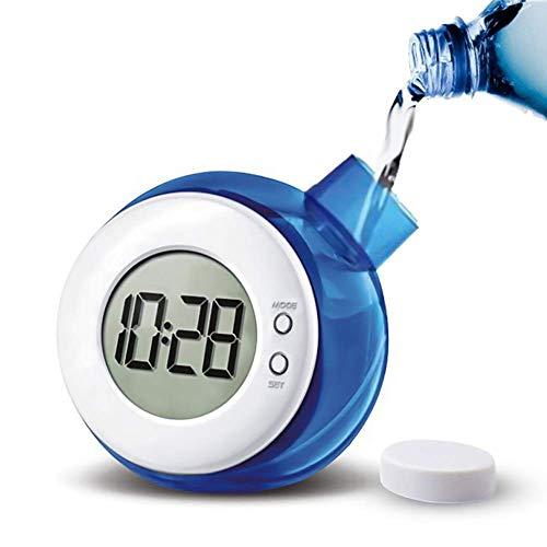 Yxxc Reloj Retro -Reloj de Soporte Relojes de Escritorio Energía de Agua Pantalla Digital eléctrica Reloj de Mesa Operado por salmuera Hidrodinámico Analóg