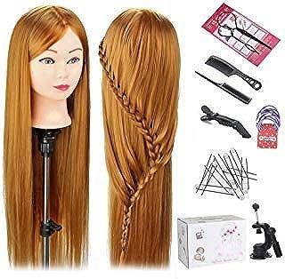Mannequin Head with Hair, TopDirect 24 Inch Long Hair Mannequin Manikin Head Hair Practice Cosmetology Hair Doll Head Styl...
