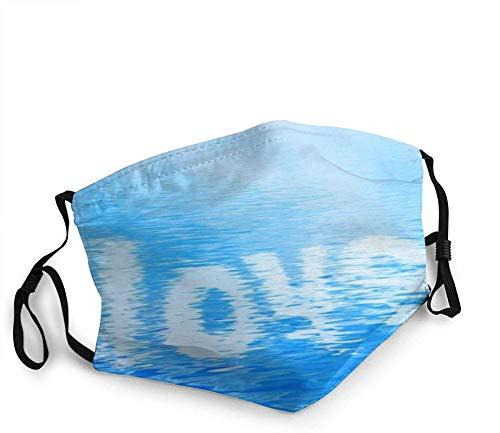 Mascarillas faciales transpirables texto en agua limpia unisex gorro bucal al aire libre deportes entrenamiento cara bandanas 1 unids negro