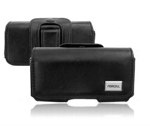 Edle Gürteltasche in Schwarz für Samsung Galaxy S5 Mini G800 PU-Leder Handytasche Gürtelschlaufe + Clip