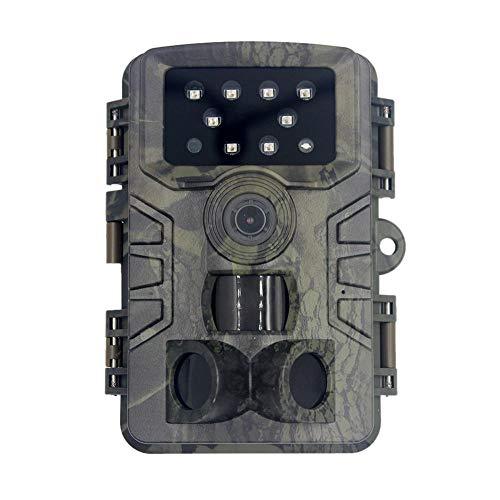 Wildkamera, Outdoor-Kamera, 20 MP, 1080P HD, Bewegungsaktivierte Infrarot-Nachtsicht bis zu 30,5 m, 940 nm, keine leuchtenden IR-LEDs, IP66 wasserdicht für draußen und zu Hause