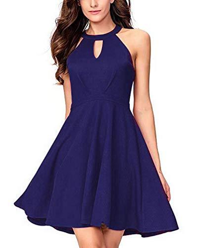 SUNNYME Vestido de cóctel para mujer con una línea de vestidos de...