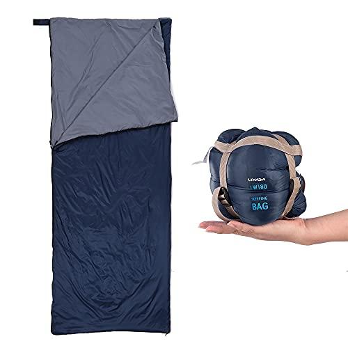 Lixada Saco de Dormir Ultraligero Compresible Multifuncional Saco de Dormir Rectangular