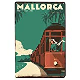 Cartel de chapa de Mallorca, placa de Metal, placa de Metal, decoración Vintage, cartel de Metal, cartel de Metal, Bar, Pub, cafetería, decoración, carteles Vintage-20x30cm