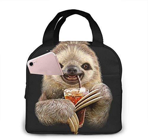 Bolsa de almuerzo de jugo de pereza para mujeres,niñas,niños,bolsa de picnic aislada,bolsa gourmet,bolsa cálida para el trabajo escolar,oficina,camping,viajes,pesca
