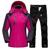OMING Tute da Sci 2020 Sci Snowboard Vestito for Le Donne Vestito Esterna Impermeabile Antivento Sci Giacca Pantaloni Inverno Neve Sci Fleece Giacche da Donna Tuta da Sci da Donna