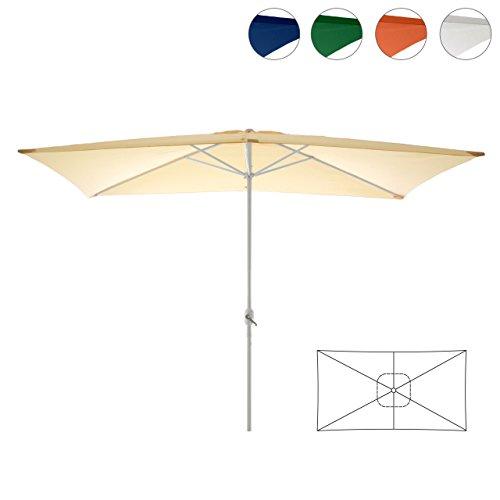Nexos Sonnenschirm, beige, 200x300 cm quadratisch, Gestell Stahl, Bespannung Polyester, 6 kg