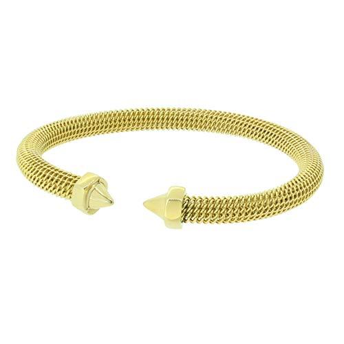Hanse-KLUNKER MESH Collection Milanaise-Armreif Schraube 110557 Edelstahl Gold, Armbandlänge:19-20 cm