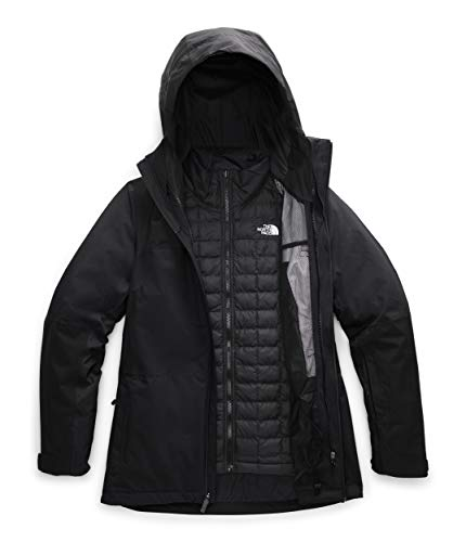 The North Face Women's Thermoball Eco Snow Triclimate Jacket, TNF Black, XL