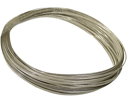 Aerzetix C17636 kabelmantel, 2 m, 2 mm, 10 A, gevlochten, vertind koper, 16 x 4 x 0,1 mm