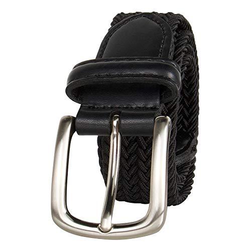 Dockers Big Boys' Braided Elastic-Web Stretch Belt, Black, Medium
