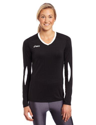 ASICS Damen Roll Shot Performance Jersey, schwarz/weiß, XS