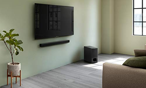 Sony HT-S350 2.1Ch Soundbar with Wireless Subwoofer (320w,Dolby Audio,Bluetooth Connectivity, Wireless Connectivity with TV)