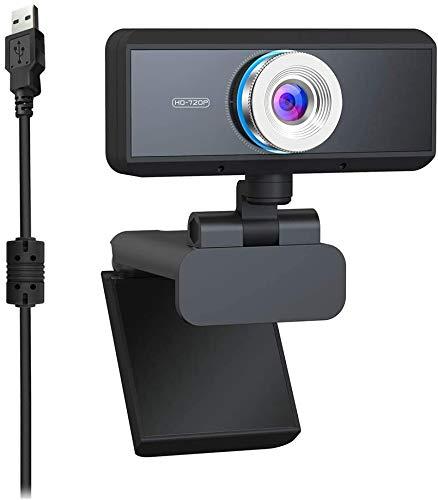 HD Webcam HD 720P, Widescreen HD Video Calling HD Luce Correzione attenuazione di Rumore Mic, per Skype FaceTime Webex PC Laptop Tablet