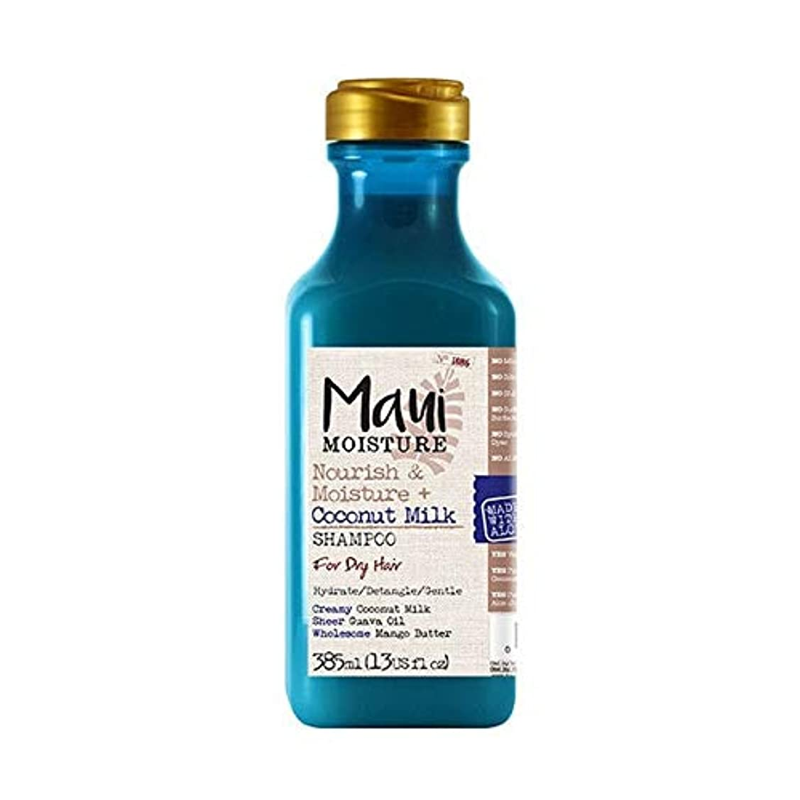 抱擁肝リズム[Maui Moisture ] マウイ水分ナリッシュ&水分+ココナッツミルクシャンプー - Maui Moisture Nourish & Moisture + Coconut Milk Shampoo [並行輸入品]