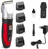 Haarschneider - elektrische Haarschneidemaschine mit Turbo-Sense-Technology und 4 Aufsätzen für 25...