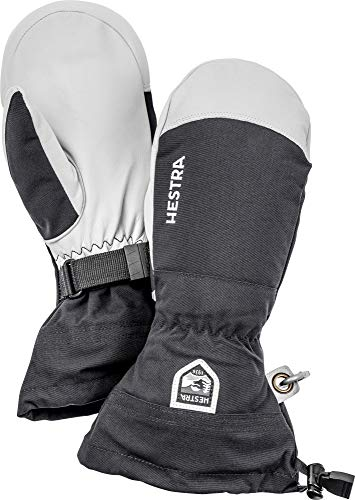 Hestra Army Leather Heli Ski Glove - Classic Snow Mitten for Skiing and Mountaineering - Black - 10