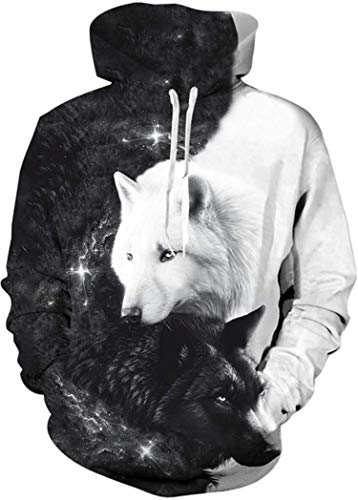 Women Men 3D Graphic Velvet Hoodie Novelty Long Sleeve Pullover Sweatshirt Jackets with Pockets S-4XL Outerwear Hoody Hoodies