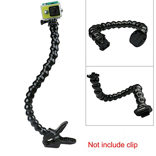 Clamp Clip Holder Mounting Neck Arm for Gopro, Adjustable Flexible Support Soft Pipe for Gopro Hero 1/2/3/3+/4 /5For SJ 4000/5000/6000 Sports Camera(Black)