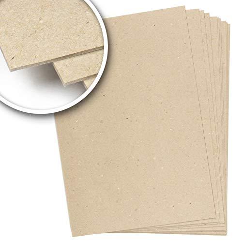 Cartón rígido compacto 2,5 mm, 1600 g/m², 26x38 cm, Cartón