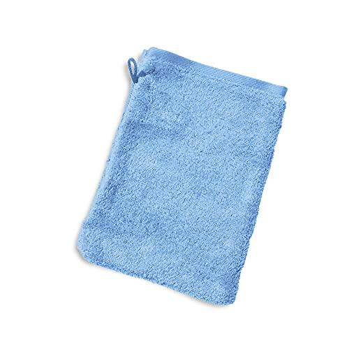 Linnea Gant de Toilette 16x21 cm Pure Bleu Ciel 550 g/m2
