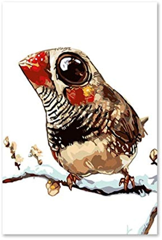 Superlucky DIY Digitale malerei Winter Schnee Birdie Farbe dekorative malerei malerei malerei Kind Erwachsene Spiel Dekompression Zeichnung 40x50 cm Mit Rahmen B07K5GKZVS | Charakteristisch  02f73b