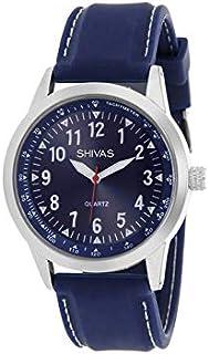f21aa5fb35 Montre Shivas Homme Quartz Bleu en Caoutchouc | Cadran Bleu | A73459-208