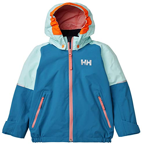 Helly Hansen Kinder K Shelter Winter wasserdichte Jacke, Blue Wave, 7 Yrs