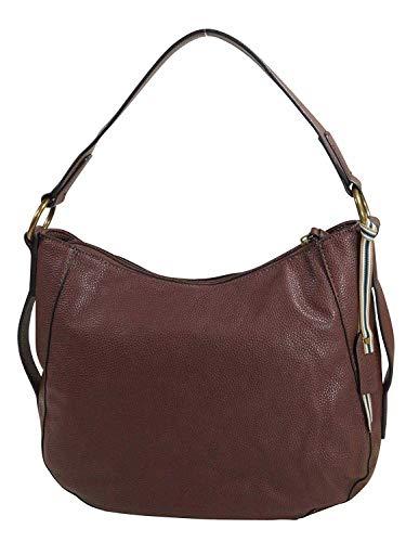 ESPRIT Damen Handtasche Tasche Henkeltasche Kiki Hobo Bag Braun 118EA1O007-210