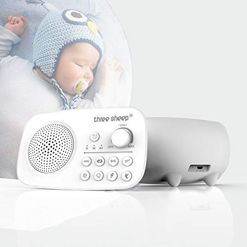 Alliner White Noise Sound Machine for Sleeping Baby Kids Adults Sleep Machine - Homemedics White Noise Machine Best Sound Machines for Sleeping Portable with 8 Soothing Sounds, Sleep Timer