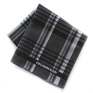 カルバンクライン 紳士 ハンカチ (ブラック) 大判 [綿100%] ビジネス メンズ ハンカチーフ 48cm CK CALVIN KLEIN 119033-0254-60