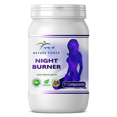 NP-Vital - Cápsulas de Night Burner, quemador de grasa natural con 11 sustancias activas (1x60 Cápsulas)