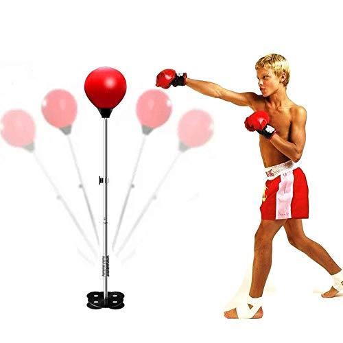 LZC Boxball-Set, freistehende Tasche mit höhenverstellbarer Heimtrainings-Jugendtrainingsausrüstung für Geschwindigkeits- und Reaktionstraining