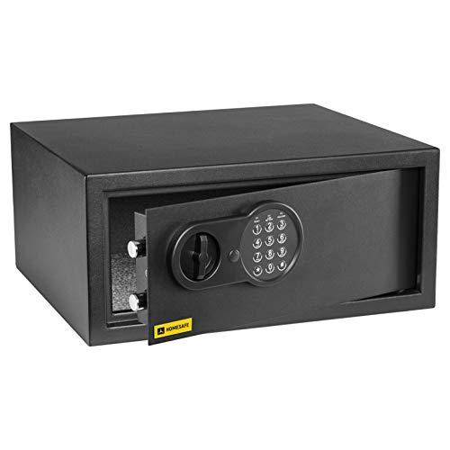 Homesafe HV24E Laptop Tresor Safe mit Elektronischem Schloss, 20x42x38cm (HxWxD), Carbon Satin Schwarz
