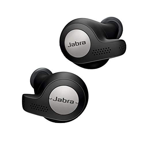 Jabra Elite Active 65t – Auriculares Deportivos Bluetooth 5.0, con Cancelación Pasiva de Ruido y Sensor de Movimiento, Auténticas Llamadas Inalámbricas y Música, Negro Titanio