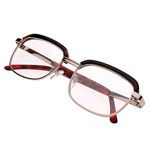Mehrschichtige AR-Beschichtung Objektiv Lesebrille Anti-Fatigue Tragbare Reader Brille mit Gläsern Box (Size : +200)