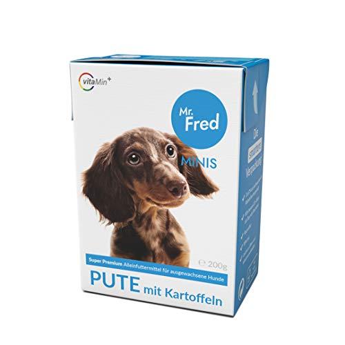 Mr. Fred- Hundefutter nass | Super Premium Nassfutter für Hunde | 10 x 200g | Lebensmittelqualität | Pute mit Kartoffeln | wiederverschließbar