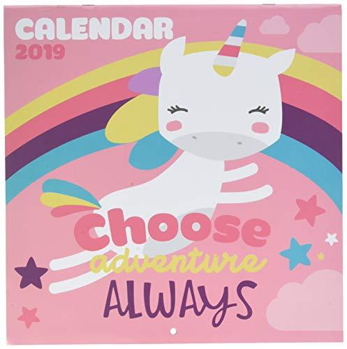 Grupo Erik Editores CP19054 - Calendario 2019 Unicornio, 30 x 30 cm