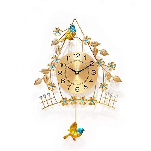 YZJL Creative-Metall-Wanduhr Moderne Stummes Quarz-Uhr Wohnzimmer Schlafzimmer Dekoration Uhr Home Art Clock