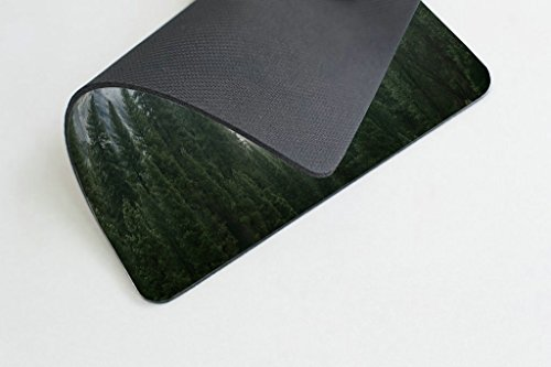 Smooffly Forest Gaming Mouse Pad,National Park Nature Mountain Trees Mist Mouse Pad for Office 9.5 X 7.9 Inch (240mmX200mmX3mm) Photo #3