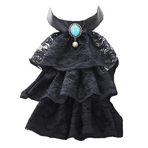 Aisoway Corte de estilo victoriano de encaje desmontable collares Falso collar Decoración traje para la Mujer
