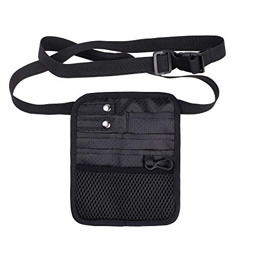 Beautyflier Nylon 5 Pockets Nurse Organizer Waist Bag Pouch for Medical Scissors Care Kit Accessories Tool Case (CASE ONLY)