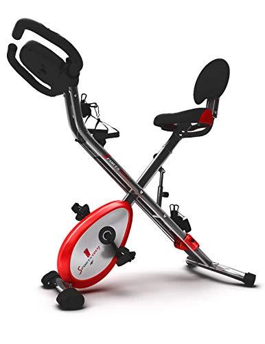 Sportstech X150 X Bike • 4-in-1 Home Trainer with Smartphone App & patented pullback system • Hand pulse sensors • Ergometer • Home trainer • Foldable fitness bike • F-Bike • Fitness Indoor bike